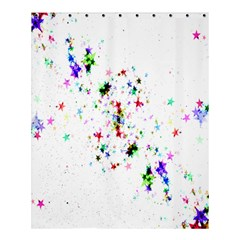 Star Structure Many Repetition Shower Curtain 60  X 72  (medium)  by Amaryn4rt