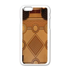 The Elaborate Floor Pattern Of The Sydney Queen Victoria Building Apple Iphone 6/6s White Enamel Case by Amaryn4rt