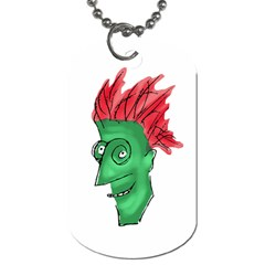 Crazy Man Drawing  Dog Tag (two Sides)