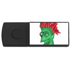 Crazy Man Drawing  Usb Flash Drive Rectangular (4 Gb)