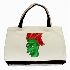 Crazy Man Drawing  Basic Tote Bag