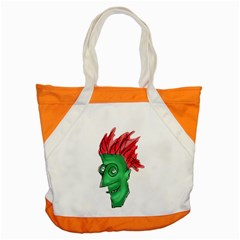 Crazy Man Drawing  Accent Tote Bag