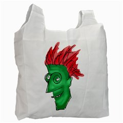 Crazy Man Drawing  Recycle Bag (two Side)  by dflcprintsclothing