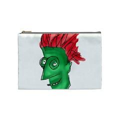 Crazy Man Drawing  Cosmetic Bag (medium)