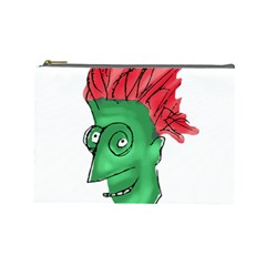 Crazy Man Drawing  Cosmetic Bag (large)