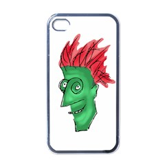 Crazy Man Drawing  Apple Iphone 4 Case (black) by dflcprintsclothing