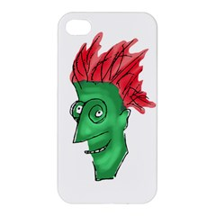 Crazy Man Drawing  Apple Iphone 4/4s Hardshell Case by dflcprintsclothing