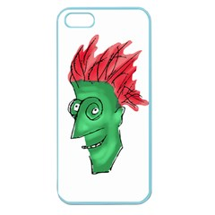 Crazy Man Drawing  Apple Seamless Iphone 5 Case (color)