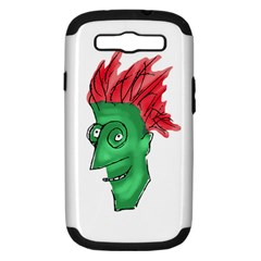 Crazy Man Drawing  Samsung Galaxy S Iii Hardshell Case (pc+silicone)