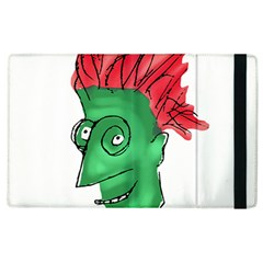 Crazy Man Drawing  Apple Ipad 2 Flip Case