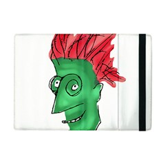 Crazy Man Drawing  Apple Ipad Mini Flip Case by dflcprintsclothing
