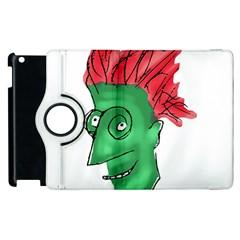 Crazy Man Drawing  Apple Ipad 2 Flip 360 Case