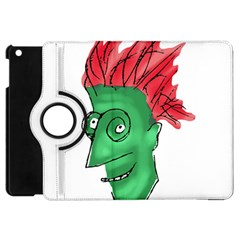 Crazy Man Drawing  Apple Ipad Mini Flip 360 Case by dflcprintsclothing