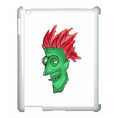 Crazy Man Drawing  Apple Ipad 3/4 Case (white) by dflcprintsclothing