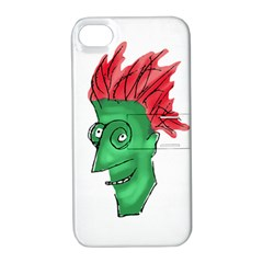 Crazy Man Drawing  Apple Iphone 4/4s Hardshell Case With Stand by dflcprintsclothing