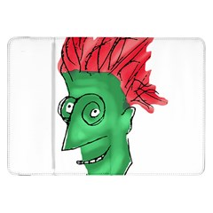 Crazy Man Drawing  Samsung Galaxy Tab 8 9  P7300 Flip Case