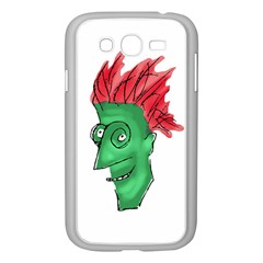 Crazy Man Drawing  Samsung Galaxy Grand Duos I9082 Case (white) by dflcprintsclothing