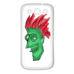 Crazy Man Drawing  Samsung Galaxy S3 Back Case (white)