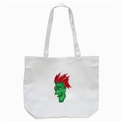 Crazy Man Drawing  Tote Bag (white)