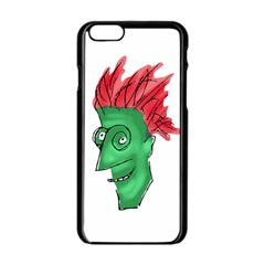Crazy Man Drawing  Apple Iphone 6/6s Black Enamel Case