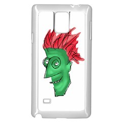 Crazy Man Drawing  Samsung Galaxy Note 4 Case (white)