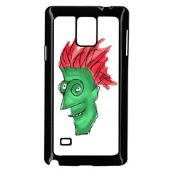 Crazy Man Drawing  Samsung Galaxy Note 4 Case (black)