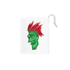 Crazy Man Drawing  Drawstring Pouches (xs)