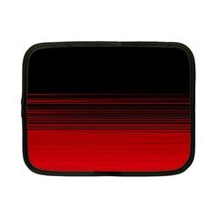 Abstract Of Red Horizontal Lines Netbook Case (small)  by Amaryn4rt