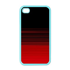 Abstract Of Red Horizontal Lines Apple Iphone 4 Case (color) by Amaryn4rt