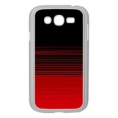 Abstract Of Red Horizontal Lines Samsung Galaxy Grand Duos I9082 Case (white) by Amaryn4rt