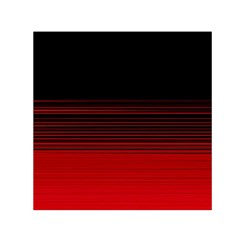 Abstract Of Red Horizontal Lines Small Satin Scarf (square) by Amaryn4rt