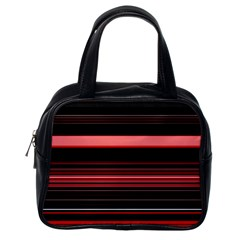 Abstract Of Red Horizontal Lines Classic Handbags (one Side) by Amaryn4rt