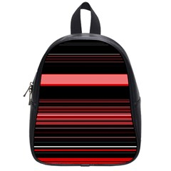 Abstract Of Red Horizontal Lines School Bags (small)  by Amaryn4rt