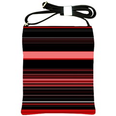 Abstract Of Red Horizontal Lines Shoulder Sling Bags by Amaryn4rt