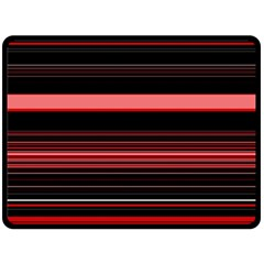Abstract Of Red Horizontal Lines Double Sided Fleece Blanket (large)  by Amaryn4rt