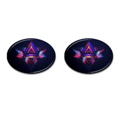 Abstract Desktop Backgrounds Cufflinks (oval) by Amaryn4rt