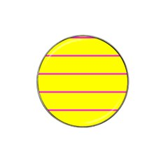 Background Image Horizontal Lines And Stripes Seamless Tileable Magenta Yellow Hat Clip Ball Marker (4 Pack) by Amaryn4rt