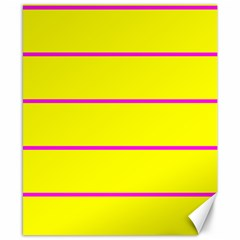 Background Image Horizontal Lines And Stripes Seamless Tileable Magenta Yellow Canvas 8  X 10  by Amaryn4rt