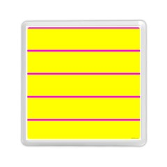 Background Image Horizontal Lines And Stripes Seamless Tileable Magenta Yellow Memory Card Reader (Square)  by Amaryn4rt