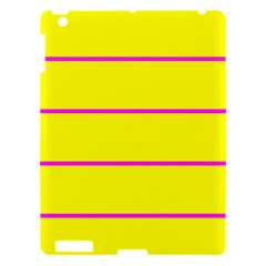 Background Image Horizontal Lines And Stripes Seamless Tileable Magenta Yellow Apple Ipad 3/4 Hardshell Case by Amaryn4rt