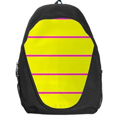Background Image Horizontal Lines And Stripes Seamless Tileable Magenta Yellow Backpack Bag by Amaryn4rt