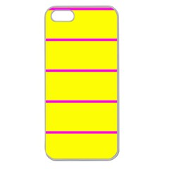 Background Image Horizontal Lines And Stripes Seamless Tileable Magenta Yellow Apple Seamless Iphone 5 Case (clear)