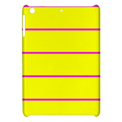 Background Image Horizontal Lines And Stripes Seamless Tileable Magenta Yellow Apple Ipad Mini Hardshell Case by Amaryn4rt