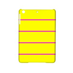 Background Image Horizontal Lines And Stripes Seamless Tileable Magenta Yellow Ipad Mini 2 Hardshell Cases by Amaryn4rt