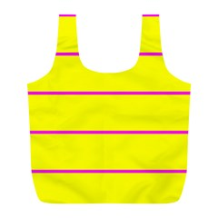 Background Image Horizontal Lines And Stripes Seamless Tileable Magenta Yellow Full Print Recycle Bags (l)  by Amaryn4rt