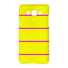 Background Image Horizontal Lines And Stripes Seamless Tileable Magenta Yellow Samsung Galaxy A5 Hardshell Case  by Amaryn4rt