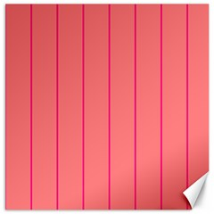 Background Image Vertical Lines And Stripes Seamless Tileable Deep Pink Salmon Canvas 16  X 16   by Amaryn4rt