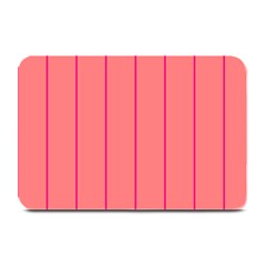 Background Image Vertical Lines And Stripes Seamless Tileable Deep Pink Salmon Plate Mats by Amaryn4rt