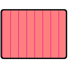 Background Image Vertical Lines And Stripes Seamless Tileable Deep Pink Salmon Fleece Blanket (large)  by Amaryn4rt