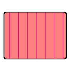 Background Image Vertical Lines And Stripes Seamless Tileable Deep Pink Salmon Fleece Blanket (small) by Amaryn4rt